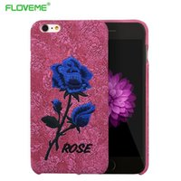 art leather phone covers - Flower Case For iPhone S For iPhone Plus S Plus Elegant Art Rose Embroidery Slim Leather Back Phone Cover I6 S Plus