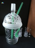 best stock packing box - Best selling product big size mm Colorful Starbuck Cup oil rig glass bong in stock with glass accessories and good packing for smoking