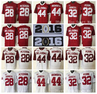 american bowls - Oklahoma Sooners College Adrian Peterson Football Jerseys American Samaje Perine Brian Bosworth Orange Bowl Red White