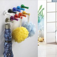 aluminium coat rack - Aluminium New Candy Color Decorative Wall hooks racks Clothes hook Metal Towel coat Robe hook Bathroom Accessories
