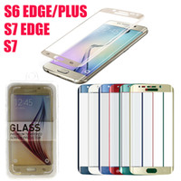 Wholesale Samsung Galaxy S7 Edge S6 Edge Plus Screen mm Protector Tempered Glass Side Explosion Proof S6 Edge Plus Tempered Glass DHL Free SSC031