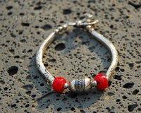 antique tibetan coral - Original Simple Tibet s Style Antique Hollow Tibetan Silver Ball Bracelet Red Coral Pure Handmade Ethnic Jewelry