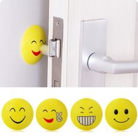Wholesale Door Handle Knob Emoji Crash Pad Wall Protector Self Adhesive Bumper Door Stopper Anti Collision Wall Sticker ZA1340