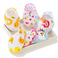 Wholesale Newborn Mittens Baby Scratch Mittens with Foot Gloves Age for Months