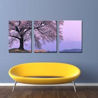 canvas prints wall painting - Asia Modern Abstract Wall Art Painting On Canvas New Style NO Frame with The cherry tree landscape Wall Decor Art Canvas Picture Decor