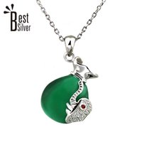 baby personalized jewelry - No Chain silver Sterling Silver Pendants Personalized Baby Elephant Pendant Ornament Trend Joker Korea Jewelry