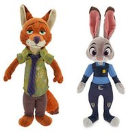 Wholesale 100pcs Zootopia Plush Toys Dolls cm Zootopia Nick Fox Judy Rabbit Stuffed Animals Plush Toys Brinquedos Kids Toys