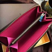 ba photo - Classic Hot Selling Women ladies genuine leather wallet Color inside vintage ba Zippy Wallet Mono Brown Checker V quality