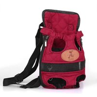 Wholesale Portable Front Pack Pet Dog Carry Canvas Bag Backpack With Double Shoulders Straps