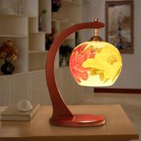 antique ceramic table lamps - Led Table Lamp Wedding Gift Mother day s Gift Antique Desk Lamp Ceramic Wood Craft Bedside LED E27 v v Light Table