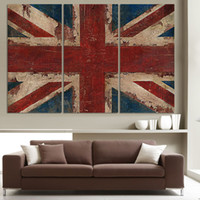 animal union - The Union Flag In Red White And Blue Piece Painting On Canvas Wall Art Picture Print Art The Picture Home Decor Oil Prints No Frame