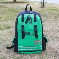 Wholesale High sail leather Miku Hatsune Bags Japanese Anime Unisex Bags Full Size School Backpack C
