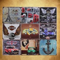Wholesale Retro Tin painting bar KTV coffee shop meal Home Furnishing decorative wall painting creative decorations