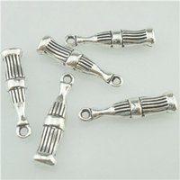 beverage charms - 16446 Antique Silver Vintage Beverage Soft Drink Bottle Pendant Charm Alloy