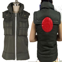 batik vest - HOT COS Anime Top Sale NARUTO Hatake Kakashi Cosplay Costume Cos Halloween Chrismas Vest Waistcoat Customized High Quality