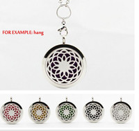 aromatherapy dogs - Premium Aromatherapy Essential Oil Diffuser Necklace Locket Pendant L Stainless Steel Jewelry with quot Chain and Washable Pads