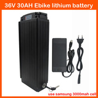 2450mah used bicycles - 1000W V AH Electric Bicycle rear rack battery use for samsung mah cell with Tail light A BMS A charger