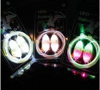 Wholesale 2016 LED Luminous Shoelace The rd Generation Olive Party Disco Flashing Shoelace Light Up Shoe Laces