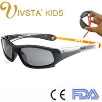 Gafas de sol para niños IVSTA Gargantilla Correa de silicona Polarizada Flexible TR90 Elásticos niños gafas de sol para las niñas titular de retención Logotipo de encargo barata 8110