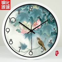 bell fine art - Watch and clock fine art Chinese Hibiscus hotel decoration Zhong Shiying bell mute watch