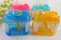 Wholesale Small Hamster Cages Small Animal Pet Rats House Habitats Hutches Storage Box Cage For Hamsters Pets Supplies Mix Color Min Order