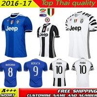 Wholesale Top quality Juve jerseys pogba DYBALA HIGUAIN jerseys MARCHISIO MANDZUKIC morata football shirt