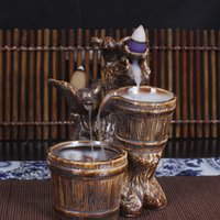 Wholesale 2 in Pigeon mm x mm Handmade Ceramic Porcelain Classical Incense Burner Censer Holder with Incense Cones Free Z00D521