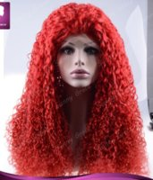 add lace wig - Customed wig density add g hair glueless chinese hair silk top lace front wig loose wave red wig