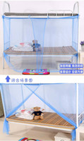 Wholesale 100 ps Mosquito Net Bug Insect Repeller Box Shape Travel Camping Home Single Double Bed high quality single door
