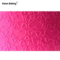 Wholesale Bakeware Rolling Pins Pastry Boards Love Shape Transparent Embossing Rolling Pins sugar craft tools Fondant Cake Decoration A154