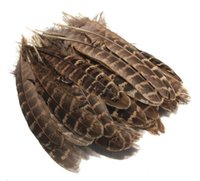 Wholesale 50PCS Brown Hen Pheasant Wing Feathers For Wedding Decor Millinery Art Hair Craft
