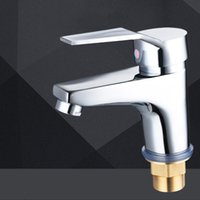Wholesale Single hole basin faucet The cold and hot water faucet copper lead Fashion home Bathroom necessary