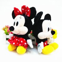 Wholesale 7inch Mini Lovely Mickey Mouse And Minnie Mouse Stuffed Soft Plush Toys for baby girls Christmas Gifts