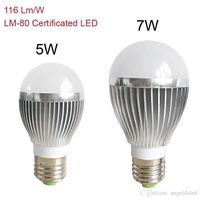 aluminium bright - Super Bright E27 Bulbs LED Light LM W Aluminium Body LED Lamps W W CRI Warm Pure White Soft Globe LED Lights