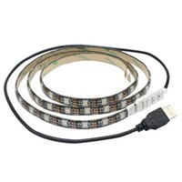 Wholesale waterproof m SMD5050 leds RGB USB led strip black PCB USB power supply SMD DC V