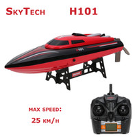 adventure boat - Skytech H101 G Remote Controlled Degree Flip High Speed Electric RC Racing Boat for Pools Lakes and Outdoor Adventure