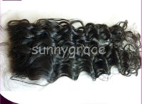 Brazilian Hair baby curl hair products - Body curl PU Brazilian human hair closure Swiss lace baby hair natural color in stock sunnygrace hair product