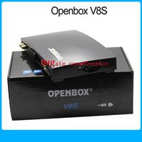 Wholesale 1PCS Original Openbox V8S satellite receiver V8 support xUSB USB Wifi WEB TV Cccamd Newcamd YouTube Biss Key