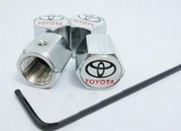anti theft screw - Wheel Tire Valve Caps For TOYOTO Piece Pack Anti theft Valve Caps With Screws Valve Stem Covers With Car Logo Badges Emblems