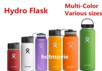 Wholesale 600 ML Hydro Flask water Bottles Stainless Steel Double Wall Stainless Steel Tumbler Cups Keep cool keep warm Flat Cap Mug