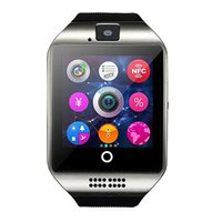 Wholesale Cheapest Fitness Wrist Watches - 2016 Hot Bluetooth Smart Watch Q18 Built-in SIM TF Card Camera NFC for IOS iPhone 6S Android Phone Smartwatch Cheap Free shipping