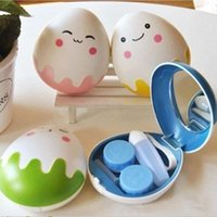 Wholesale Cute Style Contact Lenses Storage Box Lovely Cartoon Egg Shaped Contact Lenses Box cm
