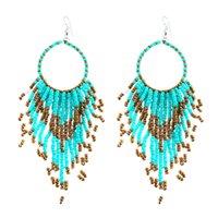 Wholesale Retro Bohemia jewelry tassels bead chain drop earring pendants ear cuff for women statement jewelry jewelry birthday gift