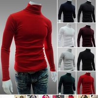Wholesale New Arrival Solid Sweater Men Casual Knitted Sweaters Mens Turtleneck Long Sleeve Pullovers Blusa Masculina XXL