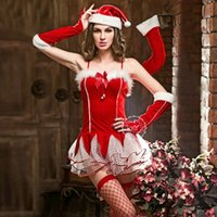 Wholesale Sexy Lingerie Sexy Costumes Exotic Apparel White Red Fantasias Sexy Erotic Popular Role Play Costumes Erotic Linger