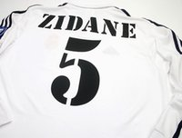 Wholesale Retro Zidane Centenary Running Jerseys long sleeves