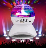 Wholesale Mini Bluetooth Speaker Subwoofer Stereo Wireless Portable Speakers Amplifier colorful rotating stage lights for Phone Computer mm Mic