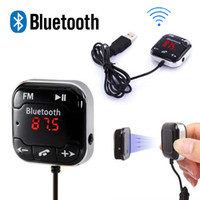 audio dsp card - BT DSP CAC A2DP Car Kit Wireless Bluetooth FM Transmitter MP3 Player mm Audio AUX TF card Slots Dual USB Charger Magnetic sticker