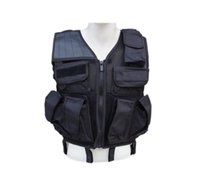 Wholesale Professional Navy Sea Airsoft Tactical Vest Black Combat Assault Vest BLACK Paintball
