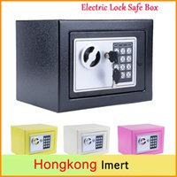 Wholesale Free DHL Digital Electronic Keypad Lock Safe Box Home Security Box for Office Hotel Gun Jewelry